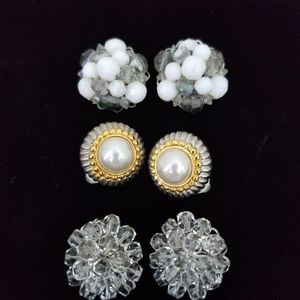 Vintage Clip on Earrings Bundle
